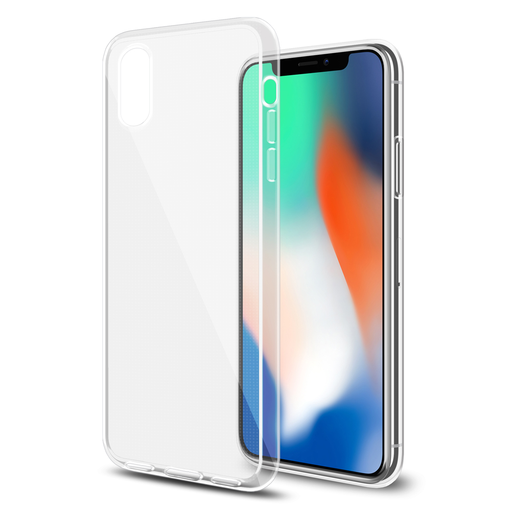 iPhone X Case, Ultra Thin Slim Premium TPU Cover Transparent Back Case for iPhone X