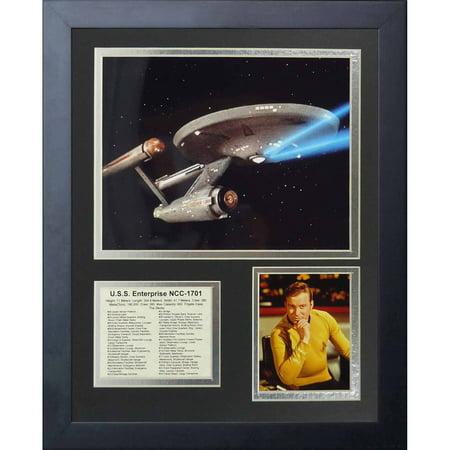 Legends Never Die Star Trek USS Enterprise Framed Photo Collage, 11