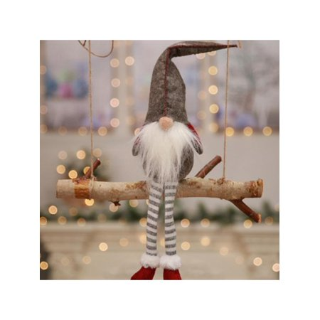 Christmas Santa Gnomes Handmade Swedish Tomte Christmas Gnome Long Leg Santa Swedish Figurines for Christmas Holiday (Figurine Holiday Decoration)