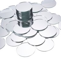 60 Pack Mini Craft Mirrors, 2 Inches Circle Round Glass Mosaic Tile Pieces, Small Crafts Mirror for Home Wall Decoration Crafts DIY Projects
