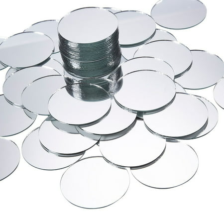 Craft Mirror - 60-Pack Mini Mirror Circles, Glass Mosaic Tile Pieces for Home Decor, DIY Craft Projects, 2-Inch Diameter ()