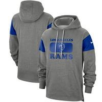 Los Angeles Rams Nike Fan Gear Historic Pullover Hoodie - Heathered Gray