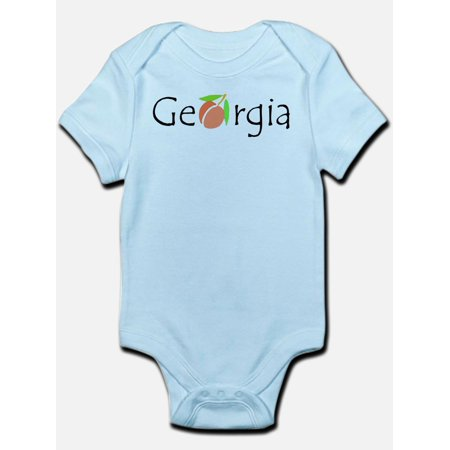 CafePress - Georgia Peach Infant Bodysuit - Baby Light - Baby Peach Mario