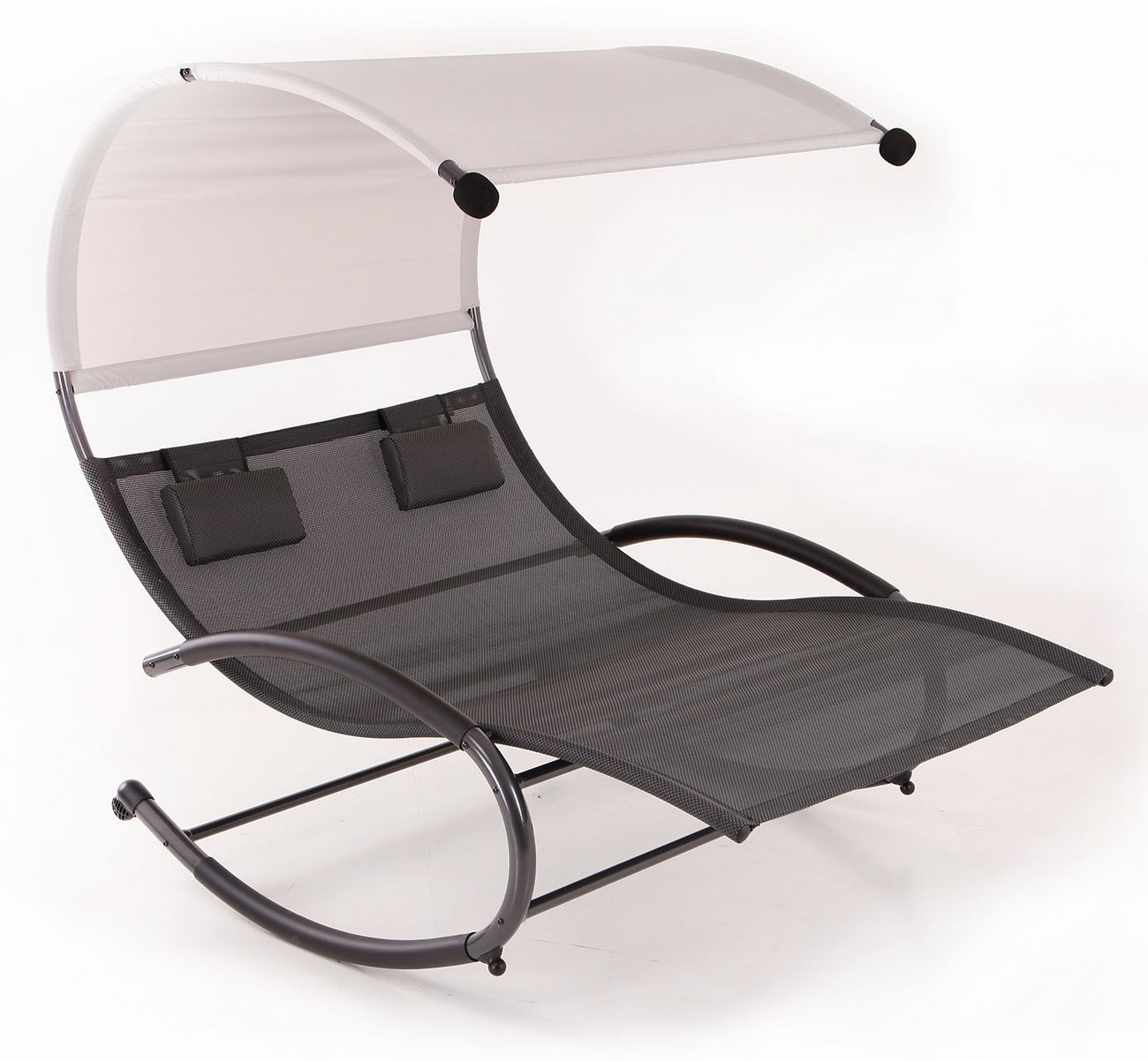Belleze Double Chaise Rocker Patio Furniture Seat Chair Canopy Pool Swing  Steel Outdoor   Walmart.com