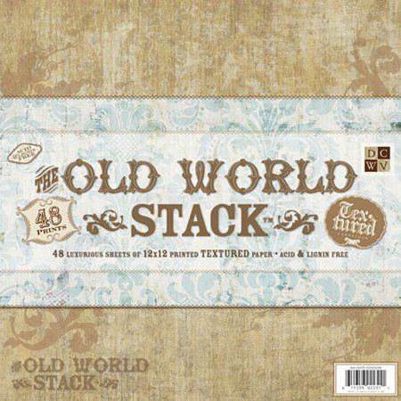Cardstock Paper Old World Stack 12X12 48 Sheets Textured