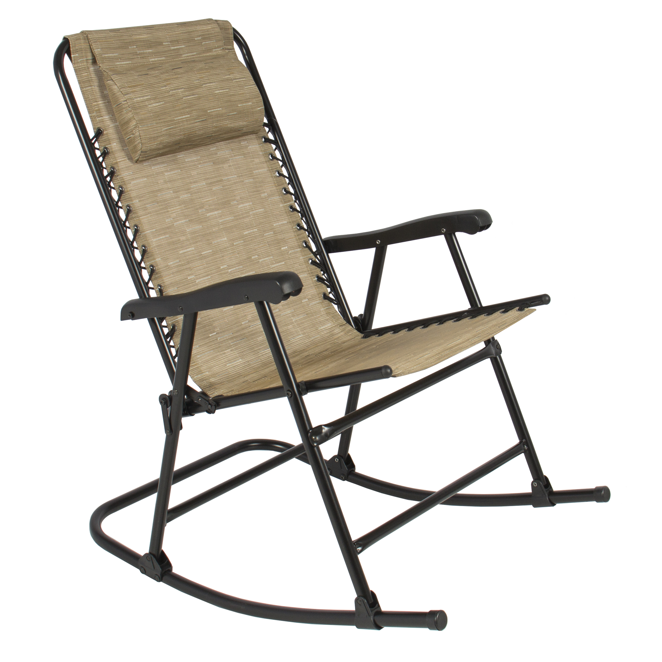 Folding Rocking Chair Foldable Rocker Outdoor Patio Furniture Beige Walmart Com