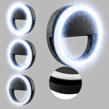 Phone Light - EEEKit Flash Fill LED Ring light, Selfie Light Ring 36 LED Clip-on Cellphone Camera for Samsung Galaxy Note 5/4/8/S8/S8 Plus/S9/S9 Plus Smartphones