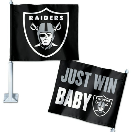 Oakland Raiders WinCraft Double-Sided Slogan Car Flag - No Size