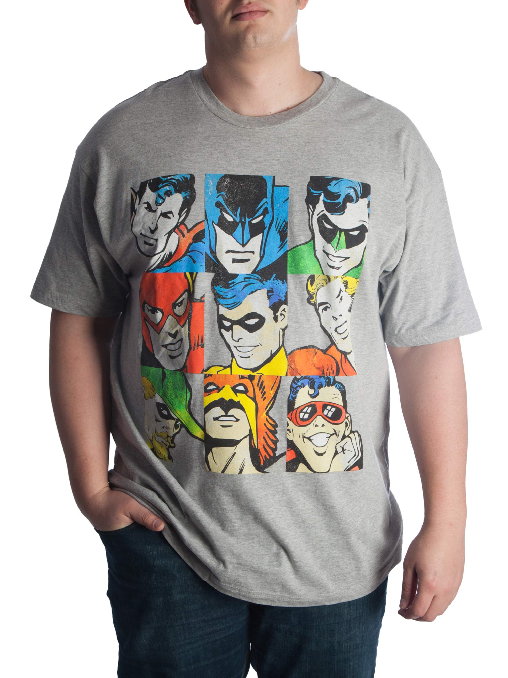 Dc Comics Big Men's Classic Justice League Graphic T-Shirt, Up To 6XL