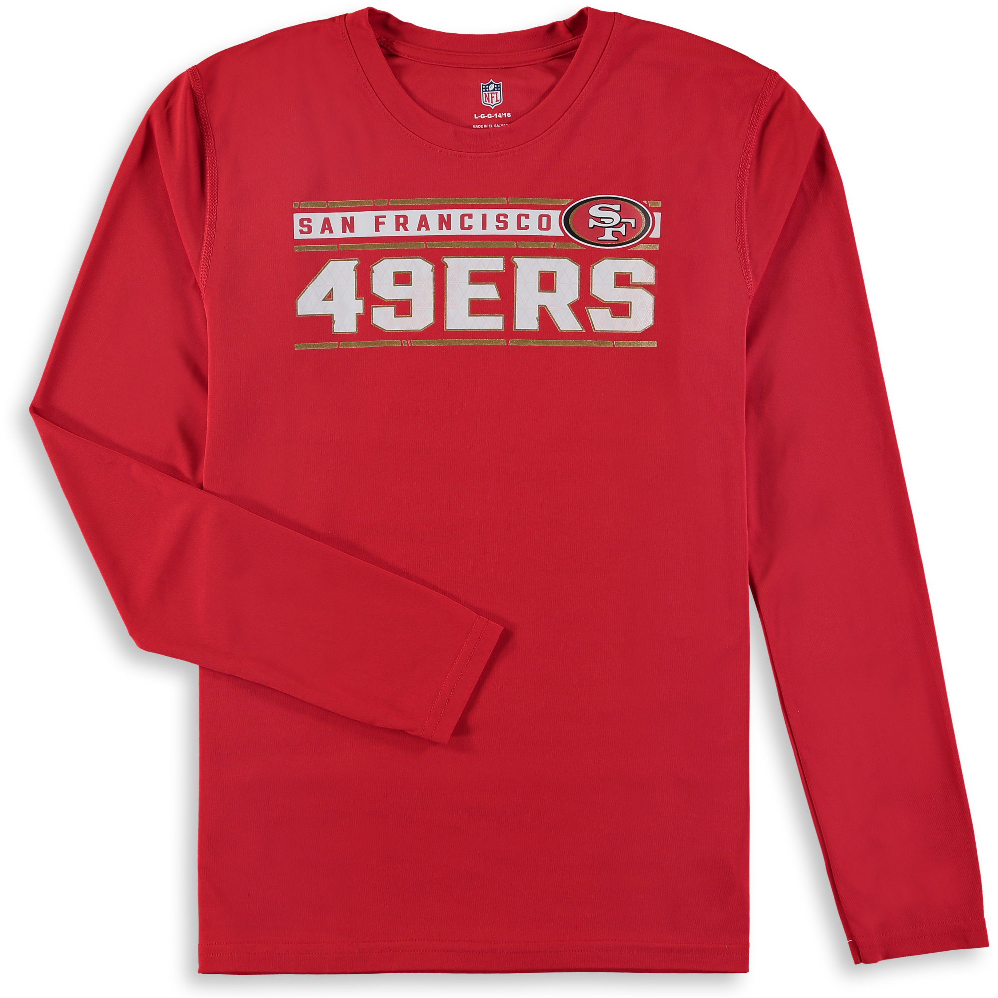San Francisco 49ers Youth Re-Generation Performance Long Sleeve T-Shirt - Scarlet