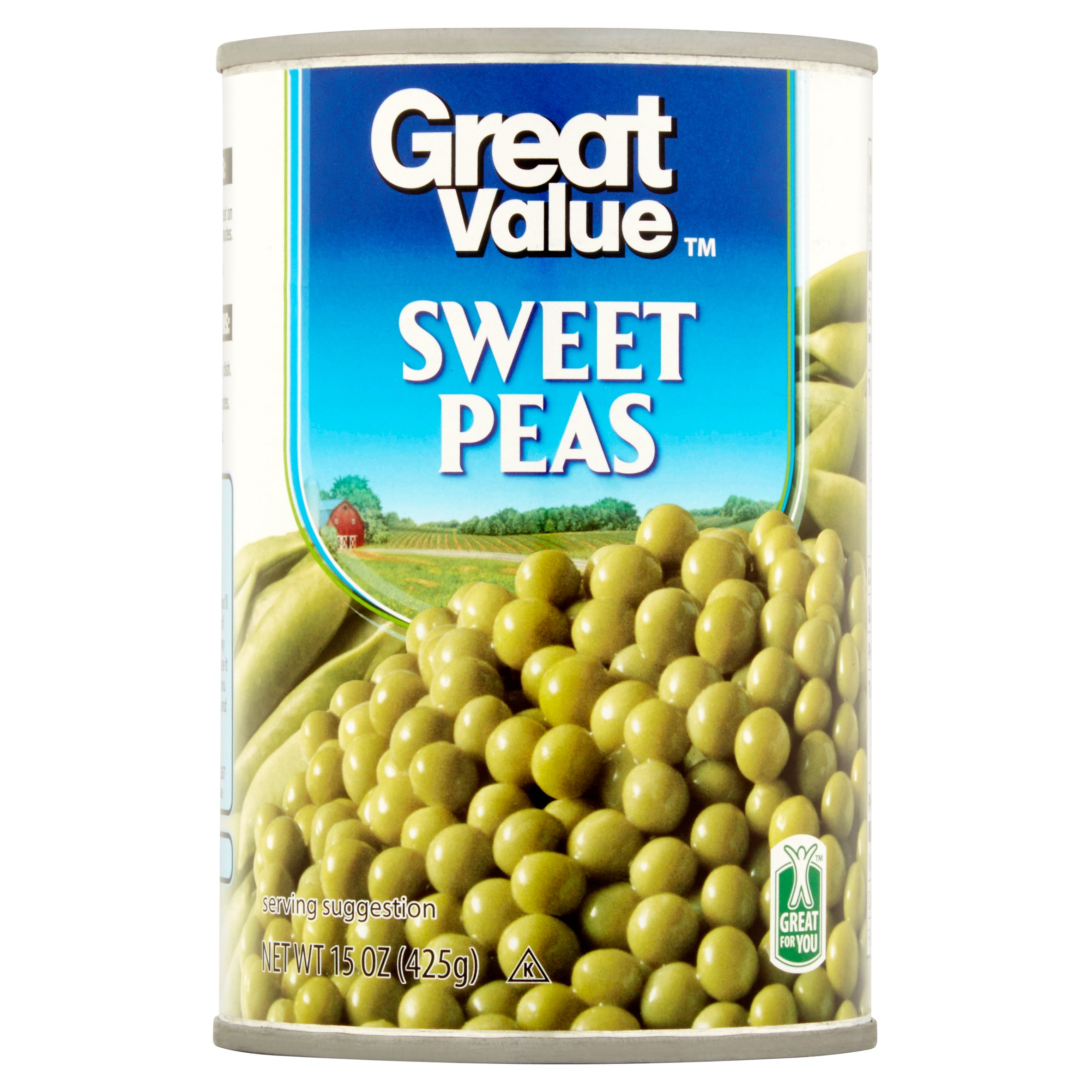 Great Value Sweet Peas, 15 Oz by Wal-Mart Stores, Inc.