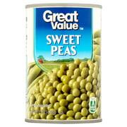 Great Value Sweet Peas, 15 oz