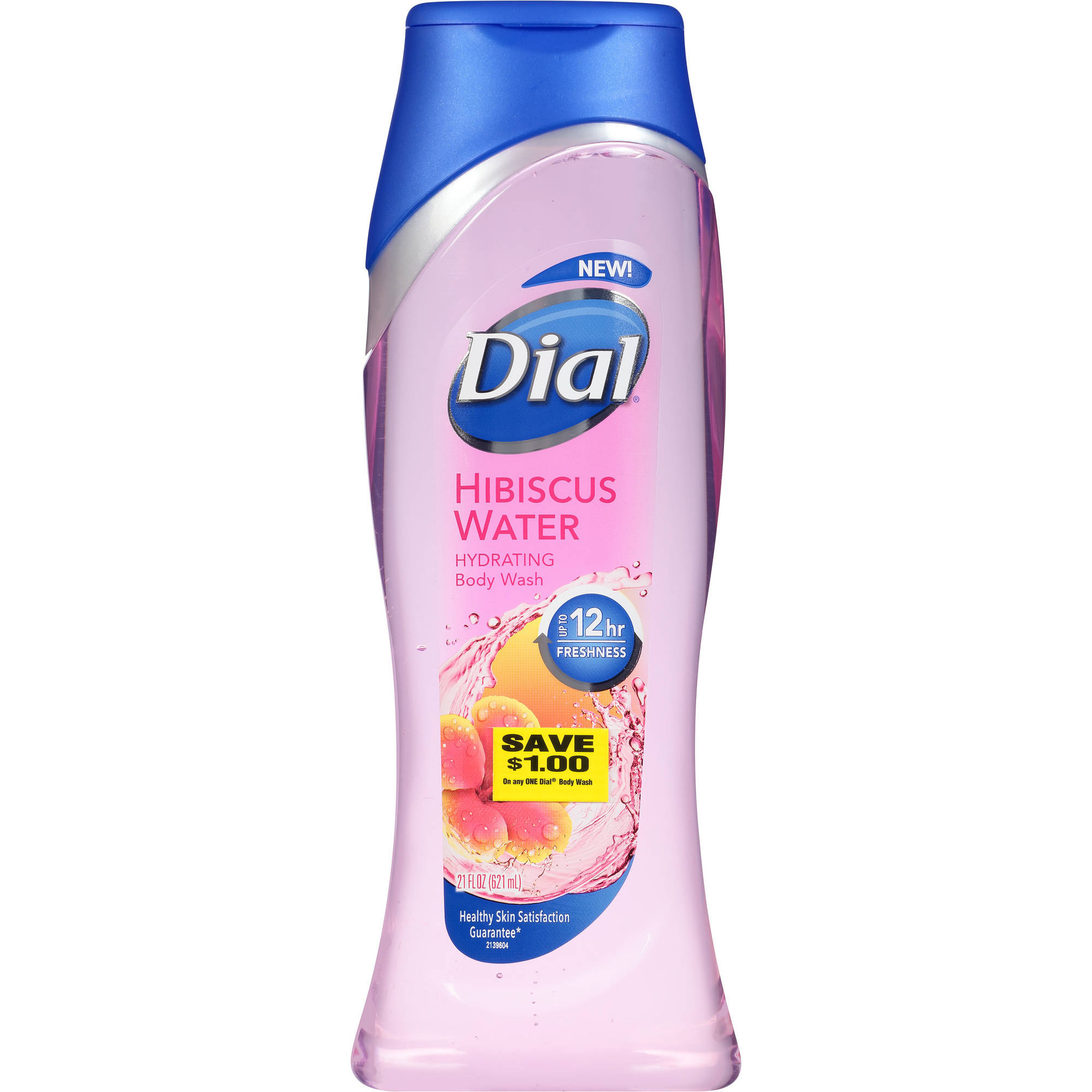 Dial Body Wash, Hibiscus Water with Up to 12 Hours of Freshness, 21 Fluid Ounces
