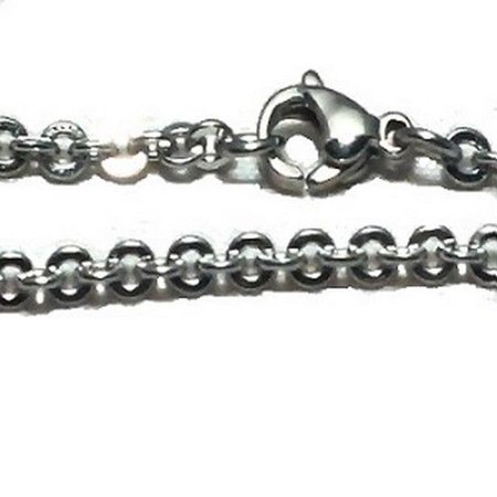 3290-031 316L Stainless Steel 26 Inch 3mm Link Neck Chain Necklace