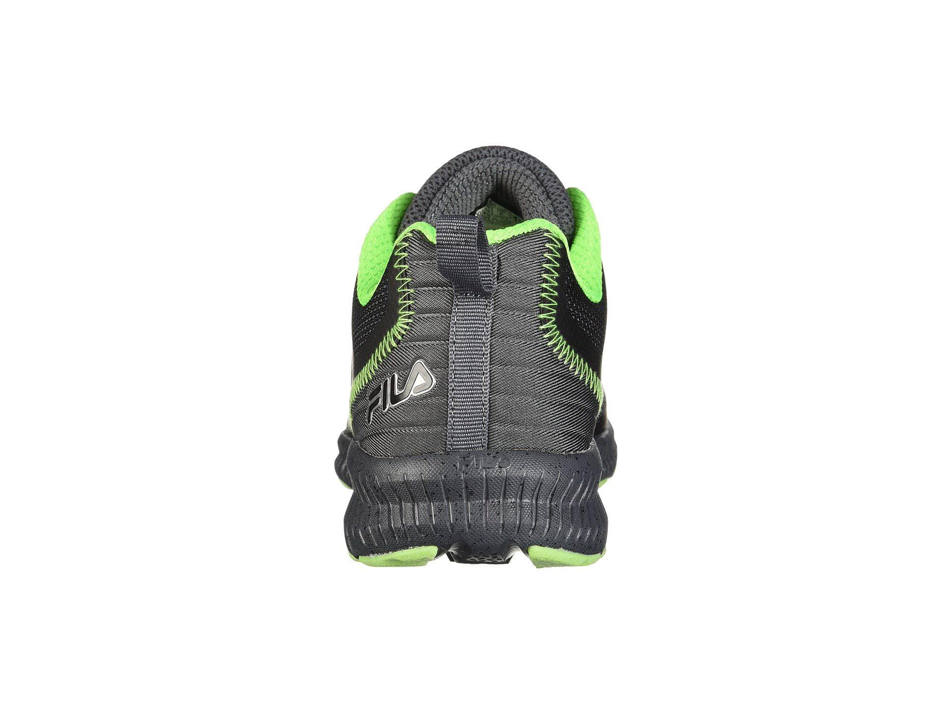 510d585b8894 Fila - Fila Memory Speedstride Trail Mens Low Top Athletic Running Shoes  (Dark Silver -Black -Green Gecko