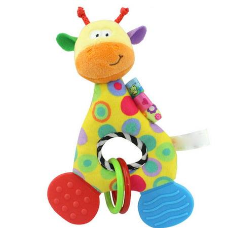 Iuhan Newborn Baby Infant Animal Soft Rattles Teether Hanging Bell Plush Bebe Toys