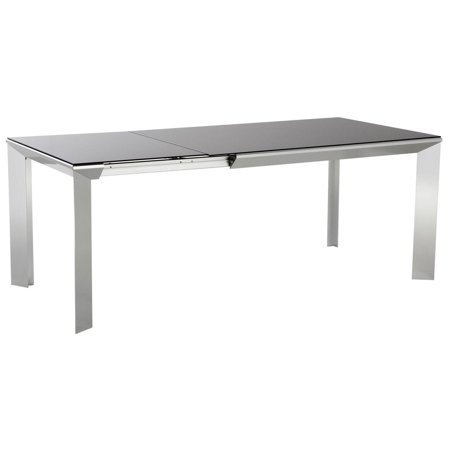 ESFNadia Ultra Modern Rectangular Stone Top Extendable Dining Table - Stone top rectangular dining table