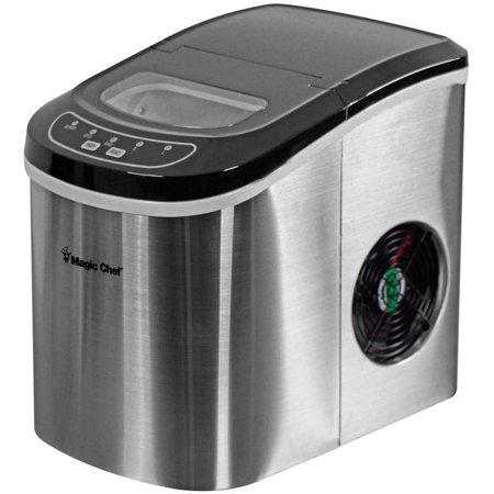 - Magic Chef 27-Lb. Portable Countertop Ice Maker in Stainless Steel