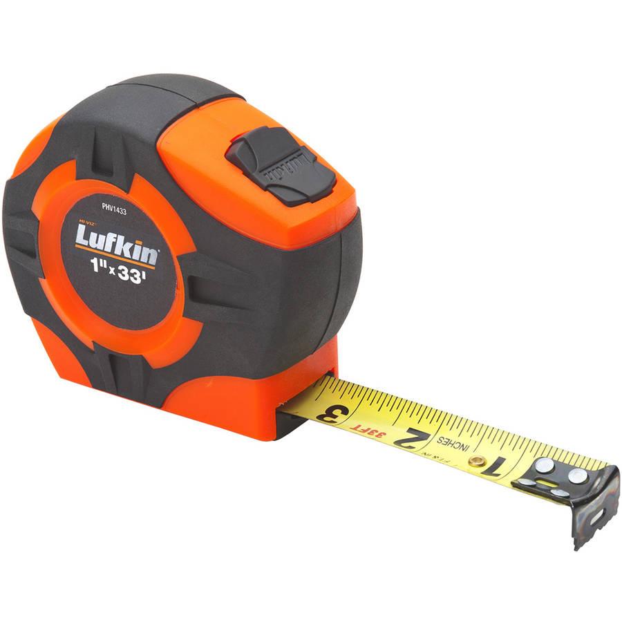 "Lufkin PHV1433 1"" x 33' Hi-Viz Orange Tape Measure"