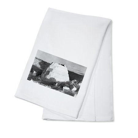 - Kotzebue, Alaska - Snow Igloo Photograph (100% Cotton Kitchen Towel)
