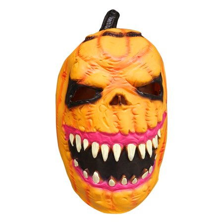 Halloween Scary Horror Zombie Mask Cosplay Costume Latex Full Face Mask Fancydress Accessory (Pumpkin)](Halloween Scary Pumpkin Makeup)