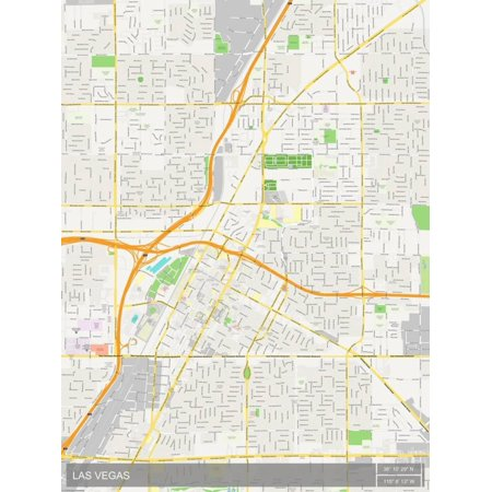 Las Vegas, United States of America Map Laminated Poster Wall Art - Halloween Shops Las Vegas
