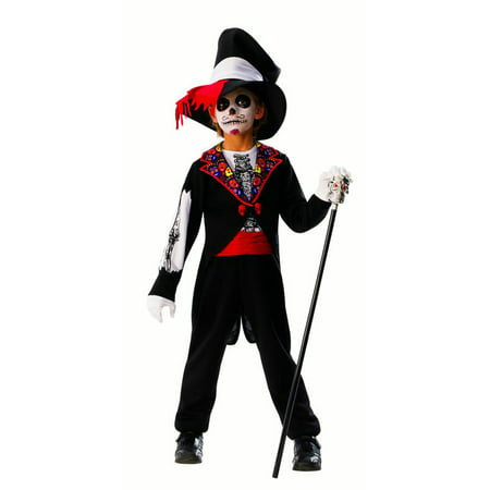 Day Of The Dead Boys Skeleton Groom Coco Halloween Costume - Skeleton Boy Costume