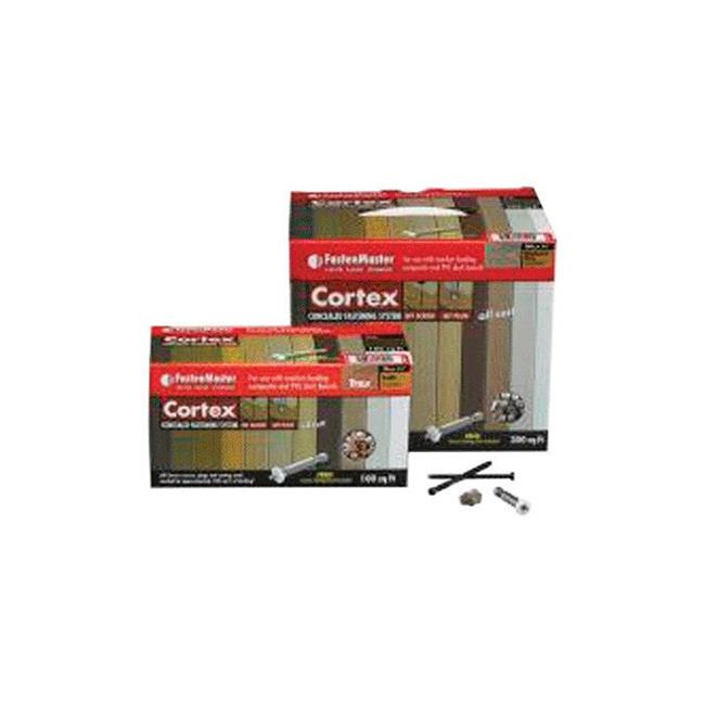 Fastenmaster 5917497 Cortex 2.75 in. Torx TTAP Star Head Rope Swing Stainless Steel Hidden Deck Fastener - 224 Per Box - image 1 de 1