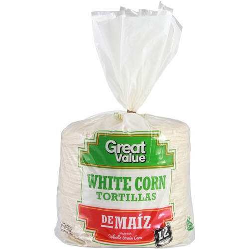 "Great Value White Corn 6"" Tortillas, 72 ct"