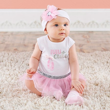 c17fc7c9a8e7 Baby Aspen - My First Ballerina 3-Piece Tutu Outfit (0-6 mos ...