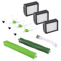Replacement Parts Kits for Roomba E5 E6 E7 i7 i7+/i7 Plus Vacuum Cleaner with 3 Hepa Filters + 1 Set of Multi-Surface Rubber Brushes + 3 Side Brushes + 1 Free Cleaning Brush