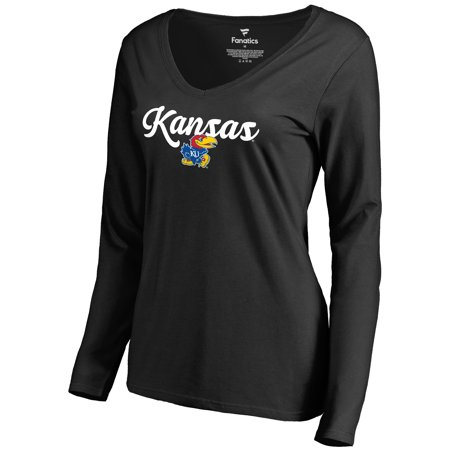 Kansas Jayhawks Fanatics Branded Women's Freehand Long Sleeve T-Shirt - - Adidas Kansas Jayhawks Football Jersey