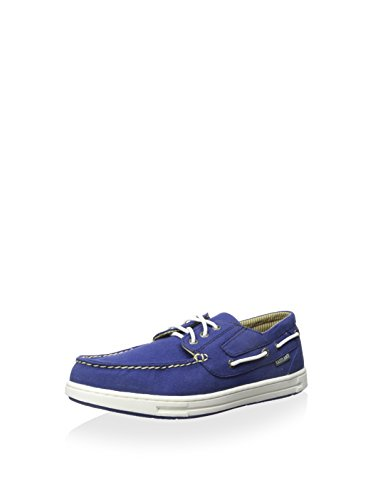 Eastland Men's Adventure Canvas Boat Shoe,Blue,8 M by Eastland