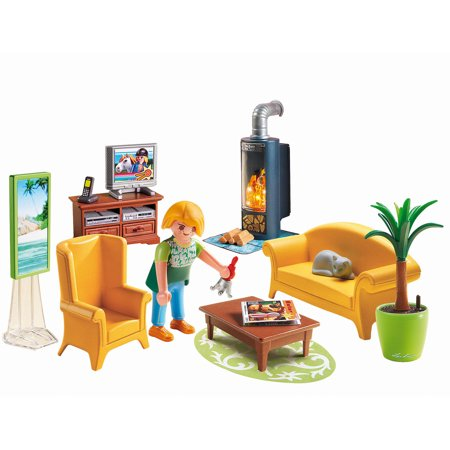 Playmobil living room with fireplace playset for Playmobil living room 4282