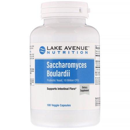 Lake Ave  Nutrition  Saccharomyces Boulardii  10 Billion CFU  180 Veggie Capsules