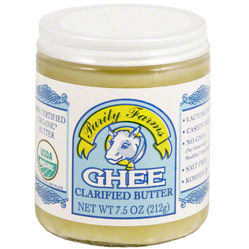 Purity Farms Ghee Clarified Butter, 7.5 oz, (Pack of 6)