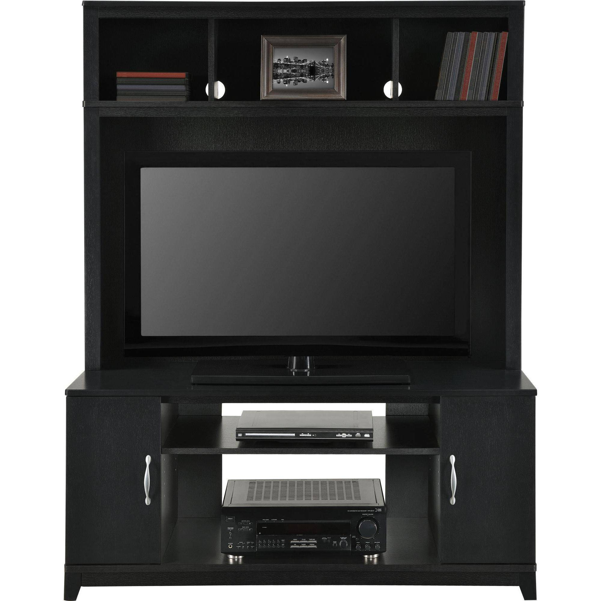 Ameriwood Home Woodland Entertainment Console, Black   Walmart.com