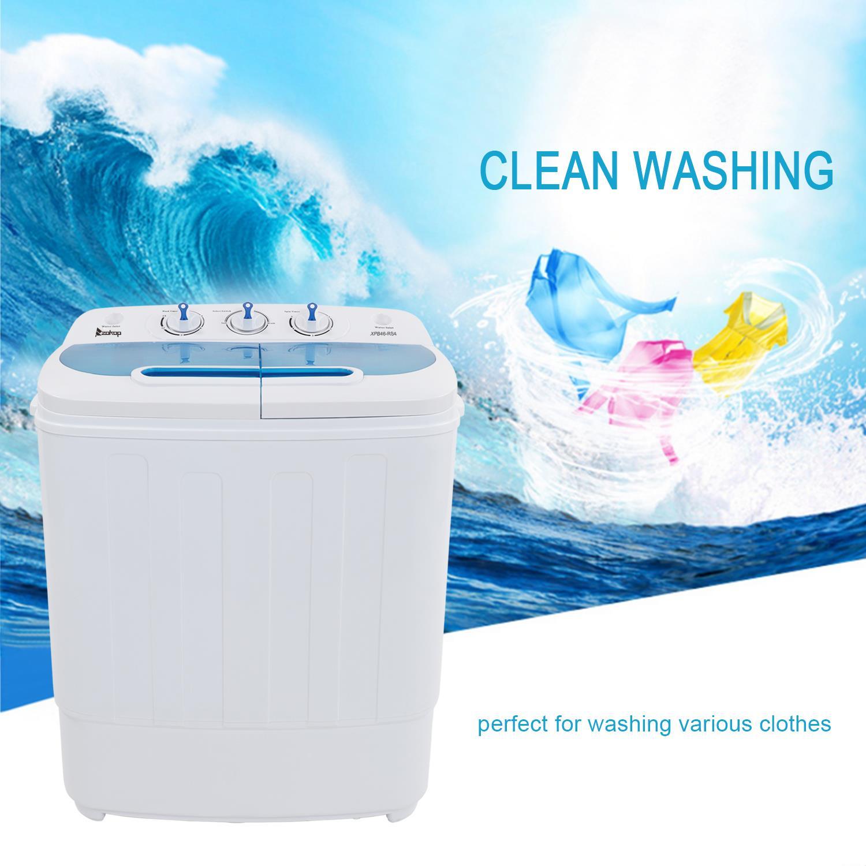 Ktaxon Portable Mini Washing Machine,Twin Tub Washing Machine Washer Spin Dryer,Wash 7.9LBS+Spin 5.5LBS Capacity