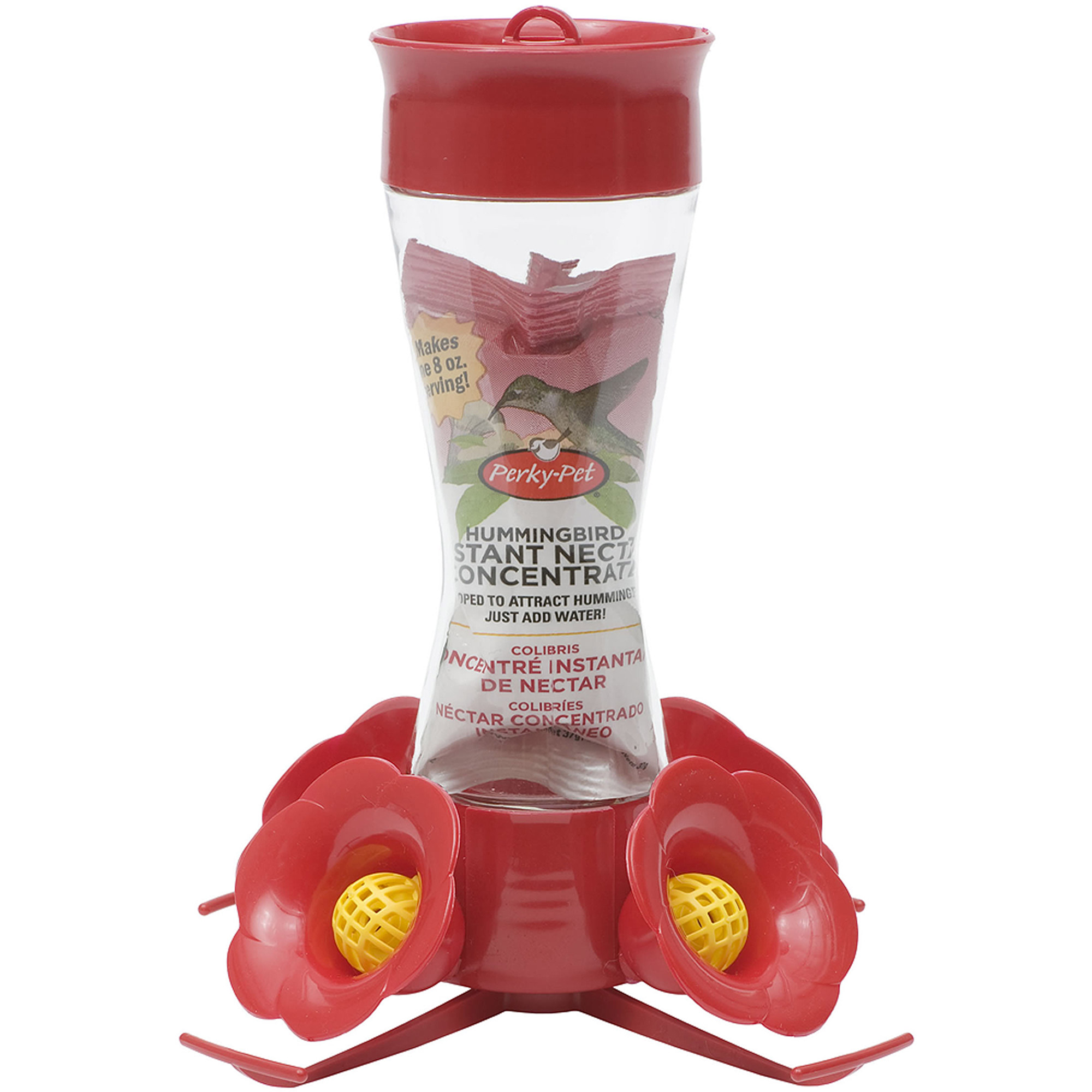 Perky-Pet Pinch Waist Glass Hummingbird Feeder with Free Nectar