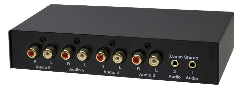 Audio Splitter Audio Mixer All-in-1 Stereo Audio Rouging Switch