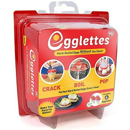 Egglettes - Egg Cooker Hard & Soft Maker, No Shell, Non Stick Silicone, Poacher, Boiled, Steamer, AS SEEN ON
