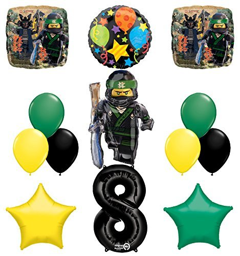 The Ultimate Lego Ninjago 8th Birthday Party Supplies and Balloon Decorations