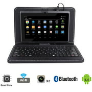 "Tagital T7X 7"" Quad Core Android Tablet PC Bundled with Keyboard Case"
