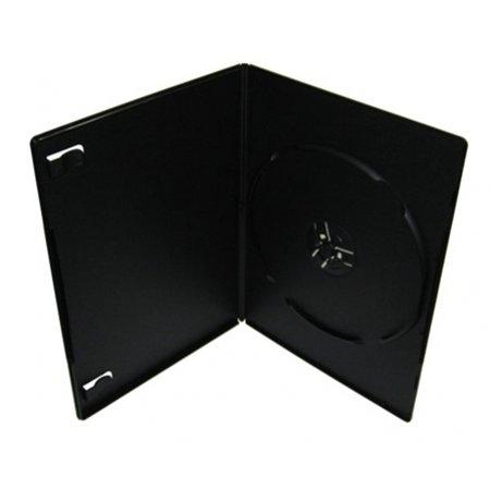 CheckOutStore 100 PREMIUM SLIM Black Single DVD Cases 7MM (100% New (Black Cd / Dvd Case)