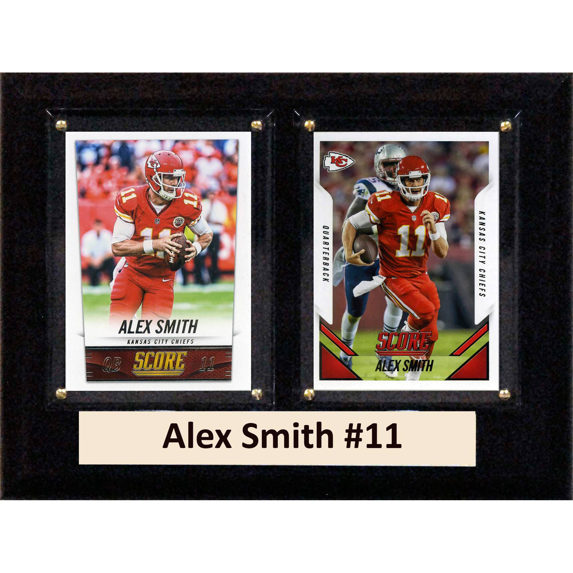 C&I Collectables NFL 6x8 Alex Smith Kansas City Chiefs 2-Card Plaque