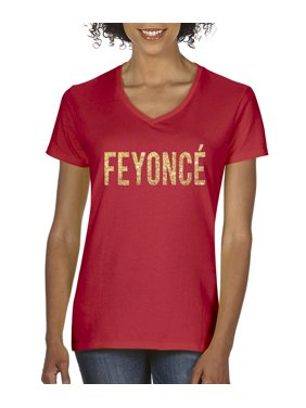 ad61905e150 Product Image New Way 122 - Women s V-Neck T-Shirt Feyonce Gold Letters