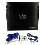 NEW VM Audio SRA1500.1 1500W Mono Amplifier Car Power Amp + Remote + Wiring Kit