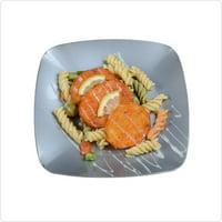 "7 1/2"" Sq. Renaissance Silver Plastic Square Salad Plates,Pack of 10 EA"