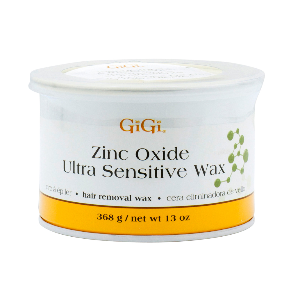 Gigi 14oz Zinc Oxide Ultra Sensitive Wax Hair Removal Depilatory, 0804