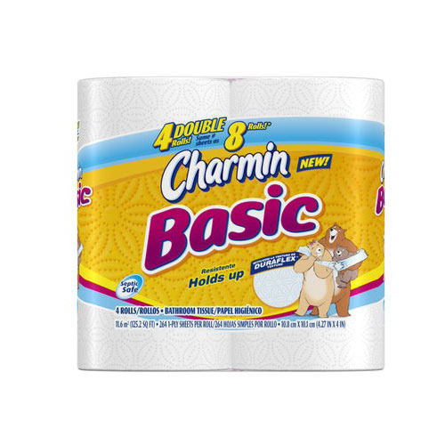 Charmin Basic Toilet Paper, 4ct